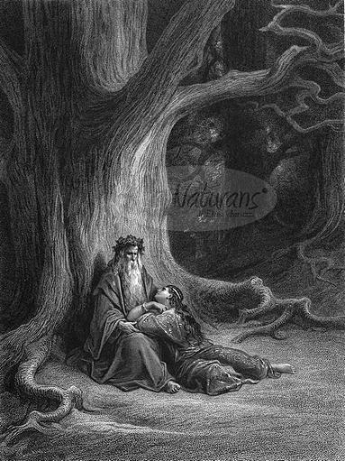 Merlino e Viviana - Paul Gustave Doré - 1850