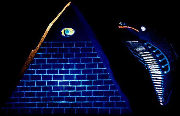 piramide nera fluorescente