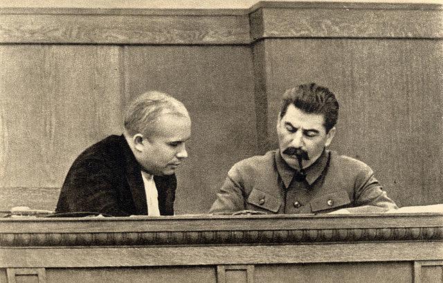 640px Joseph Stalin and Nikita Khrushchev 1936