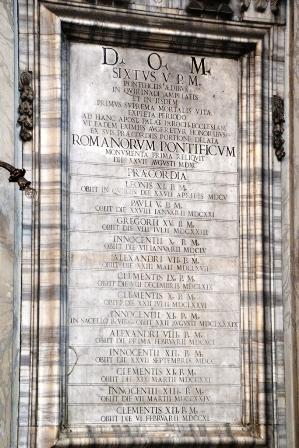 Lapidi Chiesa dei Santi Vincenzo ed Anastasio