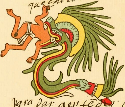 Quetzalcoatl-serprente-divora-uomini