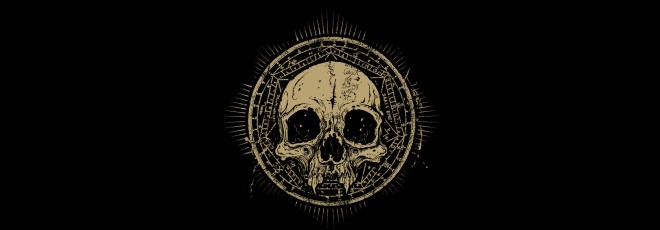 the skull the circle the darkness satan signs symbols horror minimalism