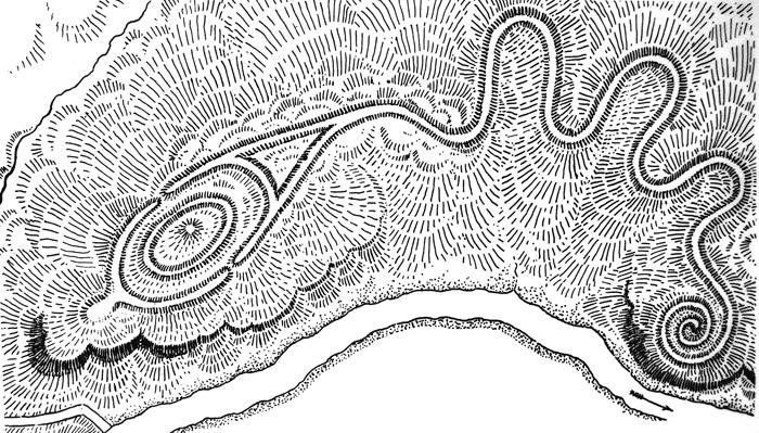 Il grande Tumulo del Serpente (Ohio, Usa)2