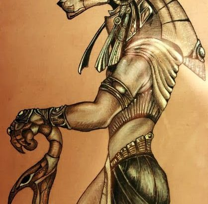 Stargate Sekhmet guard by Snake Obsidian