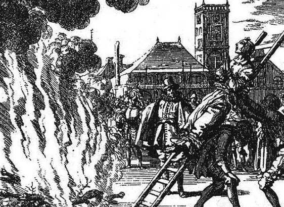 Il rogo di Anne Heinrichs 1571