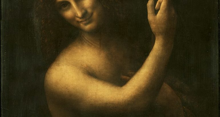 800px Leonardo da Vinci Saint John the Baptist C2RMF retouched