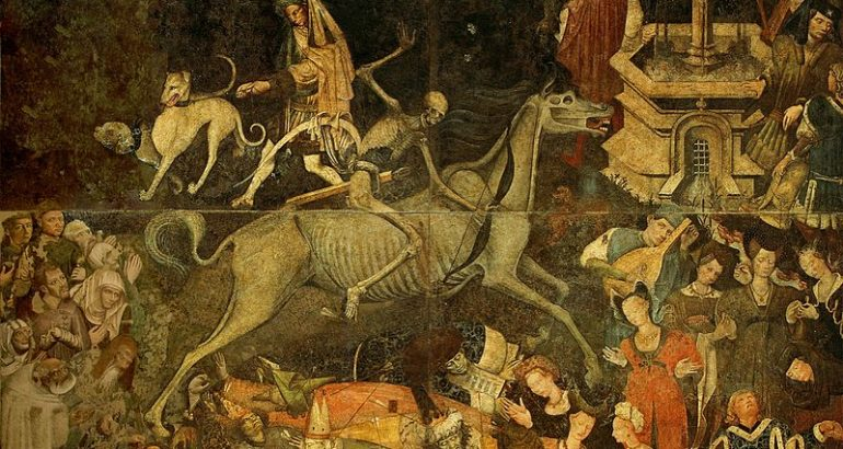 Trionfo della morte già a palazzo sclafani galleria regionale di Palazzo Abbatellis palermo 1446  affresco staccato