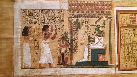 particolare di un papiro