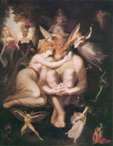 Henry Fuseli Titania Awakes Surrounded by Attendant Faries 1794