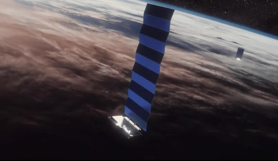 Rappresentazione di un Satellite Starlink