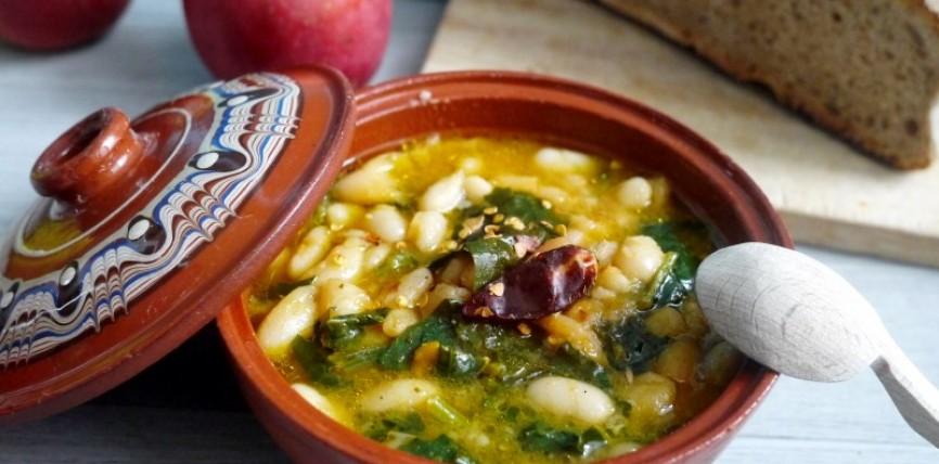 Zuppa di Fagioli e Spinaci