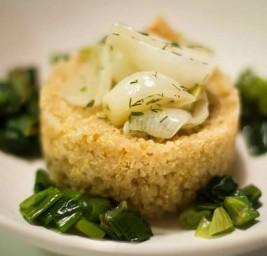 Lune di Quinoa con Cipollotti all'Aneto